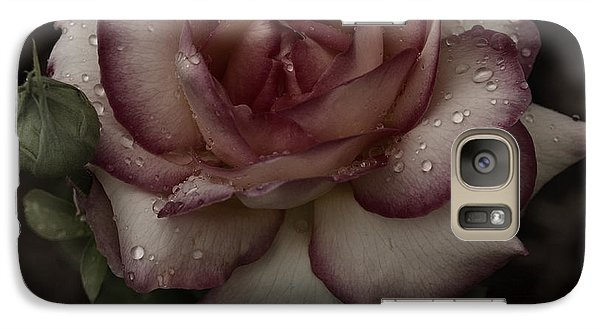 Galaxy Case featuring the photograph From Me To You Winter Rose by Barbara Middleton