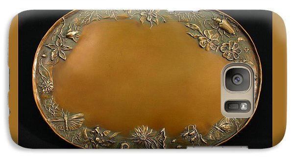 Galaxy Case featuring the sculpture From The Foothills Bronze Tray by Dawn Senior-Trask