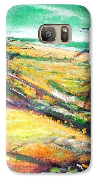 Galaxy S7 Case featuring the painting From The Lawn Pandanus by Winsome Gunning