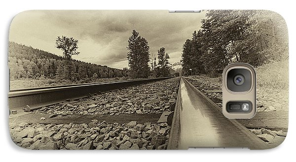 Galaxy Case featuring the photograph From The Track Antique by Darcy Michaelchuk