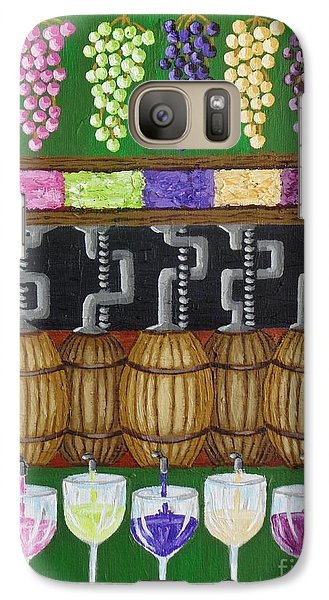 Galaxy Case featuring the painting From Vine To Wine by Katherine Young-Beck