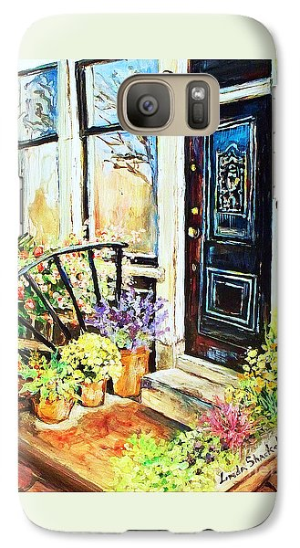 Galaxy Case featuring the painting Front Porch by Linda Shackelford
