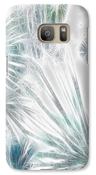 Galaxy Case featuring the digital art Frosted Abstract by Methune Hively
