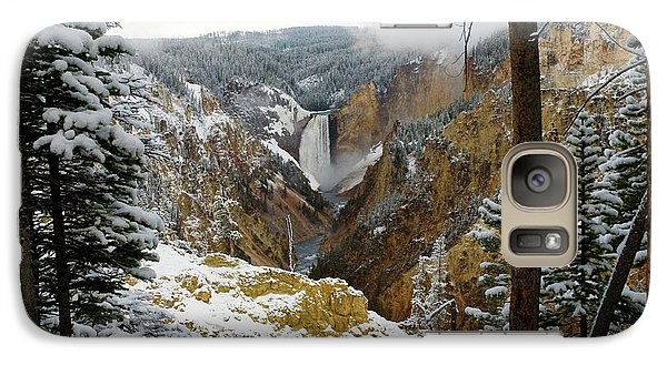 Galaxy Case featuring the photograph Frosted Canyon by Steve Stuller