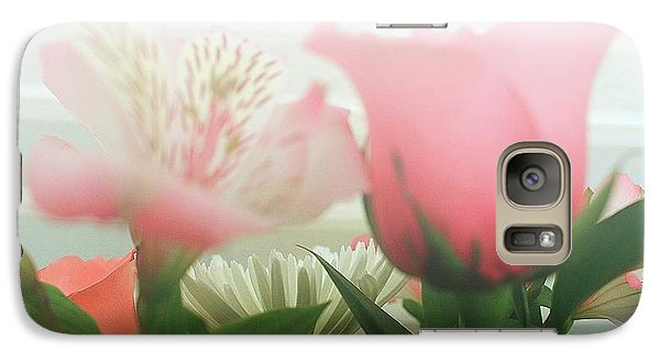 Galaxy Case featuring the photograph Frosted Flowers by Ellen O'Reilly