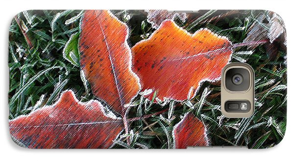 Galaxy Case featuring the photograph Frosted Leaves by Shari Jardina