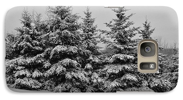 Galaxy Case featuring the photograph Frosted Trees by Kathleen Sartoris