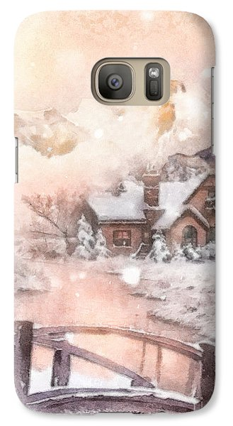 Galaxy Case featuring the painting Frosty Creek by Mo T