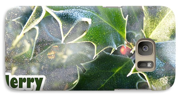 Galaxy Case featuring the photograph Frosty Holly by LemonArt Photography