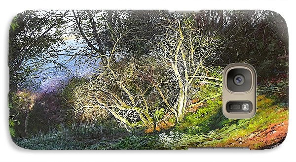 Galaxy Case featuring the painting Frosty Morning Near Nant Clwyd by Harry Robertson