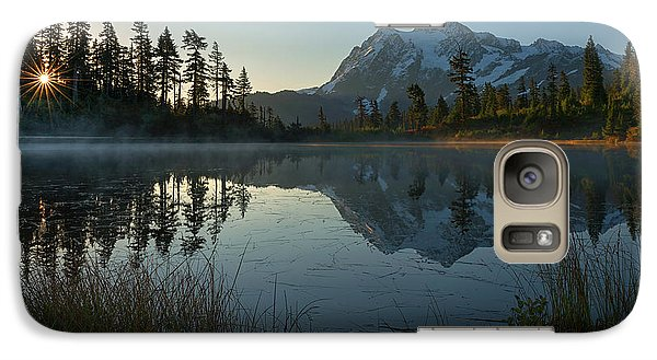 Galaxy Case featuring the photograph Frosty Picture Lake by Dan Mihai