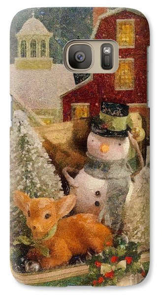 Galaxy Case featuring the painting Frosty The Snowman by Mo T