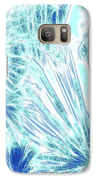 Galaxy Case featuring the digital art Frozen Blue Ice by Methune Hively