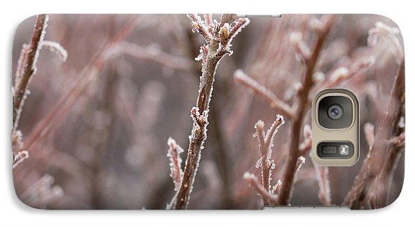 Galaxy S7 Case featuring the photograph Frozen Garden by Ana V Ramirez