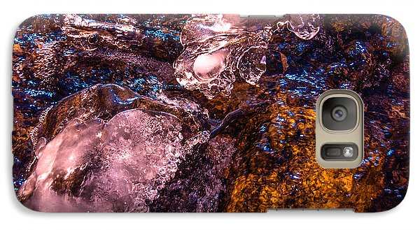 Galaxy Case featuring the photograph Frozen Lake Abstract by Tom Potter