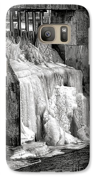 Galaxy Case featuring the photograph Frozen Power by Olivier Le Queinec
