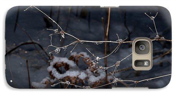 Galaxy Case featuring the photograph Frozen Rain by Annette Berglund