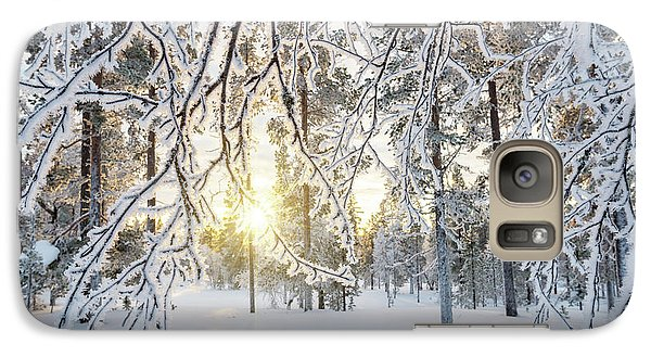 Galaxy Case featuring the photograph Frozen Trees by Delphimages Photo Creations
