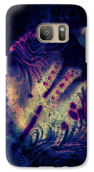 Galaxy S7 Case - Frozen Violet by Orphelia Aristal