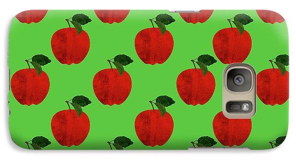 Fruit 02_apple_pattern Galaxy S7 Case