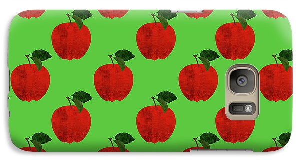 Fruit 02_apple_pattern Galaxy S7 Case by Bobbi Freelance
