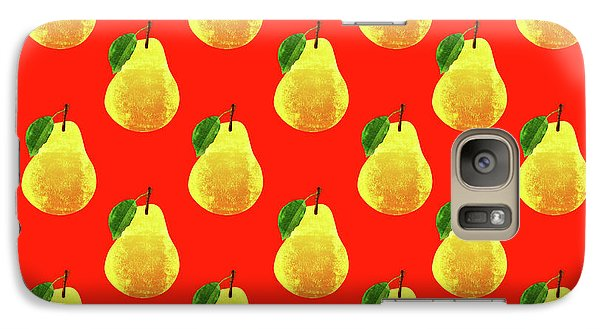 Fruit 03_pear_pattern Galaxy S7 Case by Bobbi Freelance