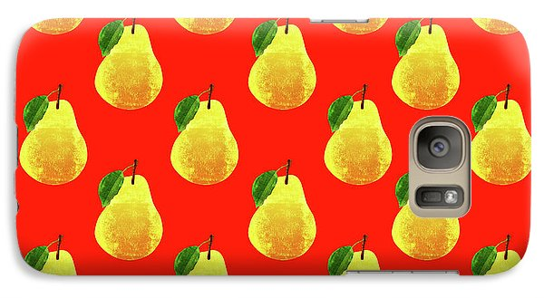 Fruit 03_pear_pattern Galaxy Case by Bobbi Freelance
