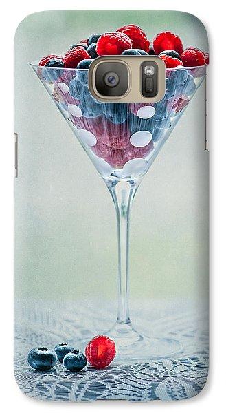 Raspberry Galaxy S7 Case - Fruit Cocktail by Maggie Terlecki