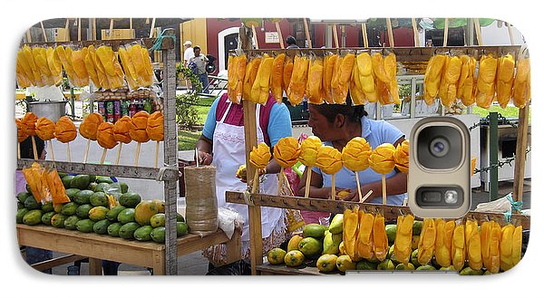 Fruit Stand Antigua  Guatemala Galaxy S7 Case by Kurt Van Wagner