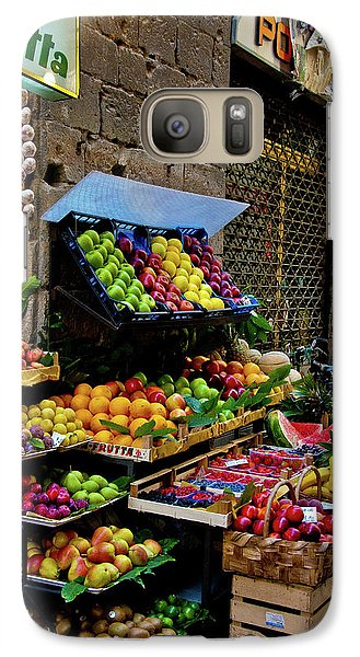 Galaxy Case featuring the photograph Fruit Stand  by Harry Spitz
