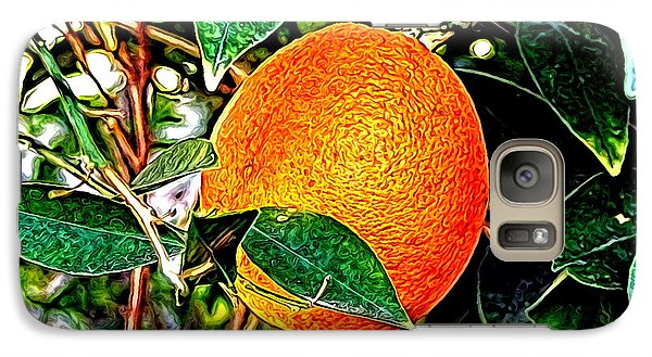 Galaxy Case featuring the photograph Fruit - The Orange by Glenn McCarthy Art