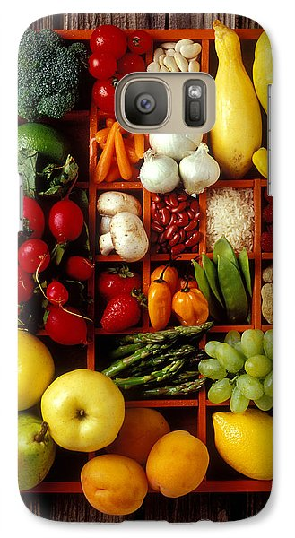 Carrot Galaxy S7 Case - Fruits And Vegetables In Compartments by Garry Gay