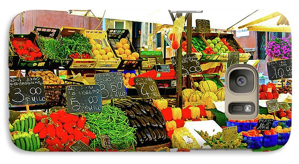 Galaxy Case featuring the photograph Fruttolo Italian Vegetable Stand by Harry Spitz