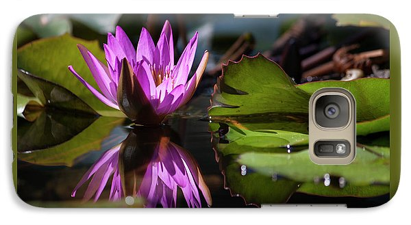 Galaxy Case featuring the photograph Fuchsia Dreams by Suzanne Gaff