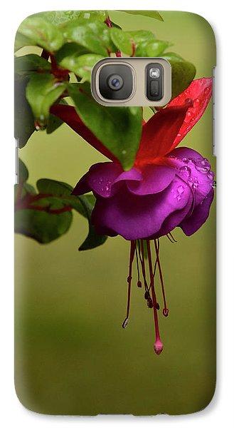Galaxy Case featuring the photograph Fuchsia Fuchsia by Ann Bridges