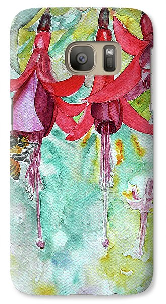 Galaxy Case featuring the painting  Fuchsia by Jasna Dragun