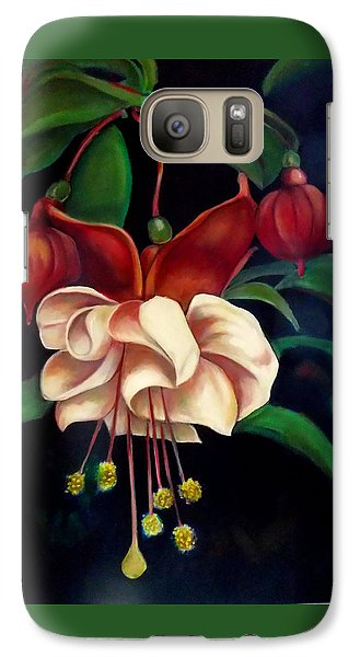 Galaxy Case featuring the painting Fuchsias by Irena Mohr