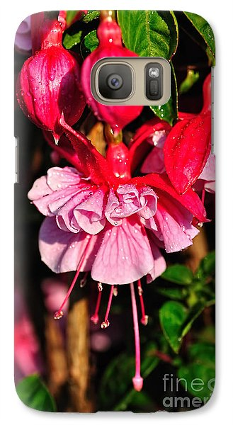 Fuchsias With Droplets Galaxy S7 Case by Kaye Menner