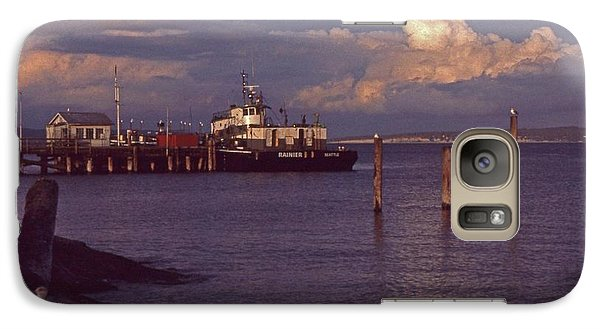 Galaxy Case featuring the photograph Fuel Dock, Port Townsend by Laurie Stewart