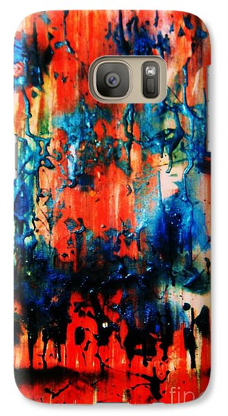 Galaxy Case featuring the painting Fueled By Desire by Roberto Prusso