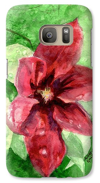Galaxy Case featuring the painting Full Bloom by Andrew Gillette