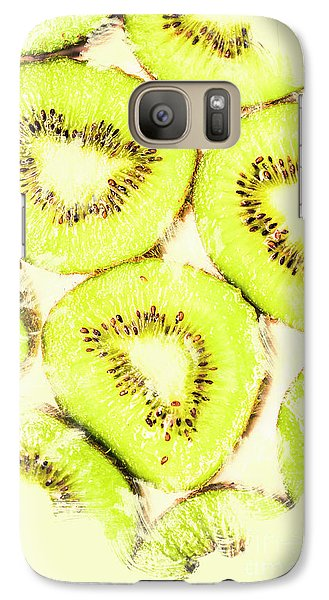 Full Frame Shot Of Fresh Kiwi Slices With Seeds Galaxy S7 Case