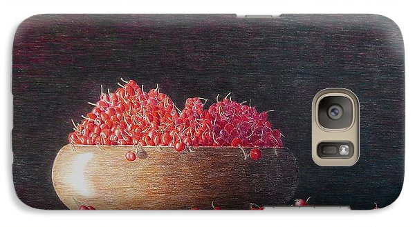 Galaxy Case featuring the painting Full Life by A  Robert Malcom