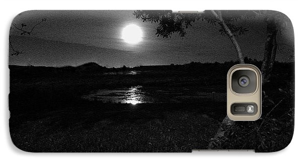 Galaxy Case featuring the photograph Full Moon 05 by Terri Mills