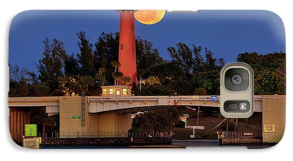 Galaxy Case featuring the photograph Full Moon Over Jupiter Lighthouse, Florida by Justin Kelefas