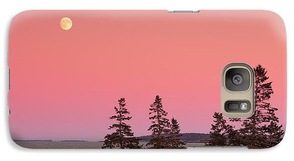 Galaxy Case featuring the photograph Full Moon Over Maine  by Emmanuel Panagiotakis