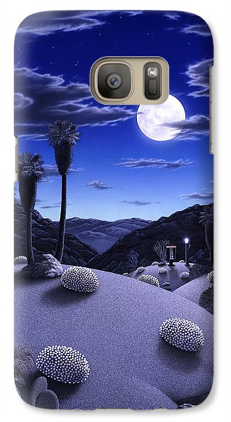 Desert Galaxy S7 Case - Full Moon Rising by Snake Jagger