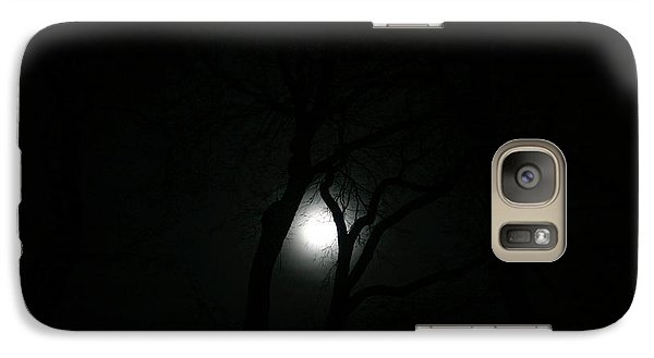 Galaxy Case featuring the photograph Full Moon Through Trees by Marilyn Hunt