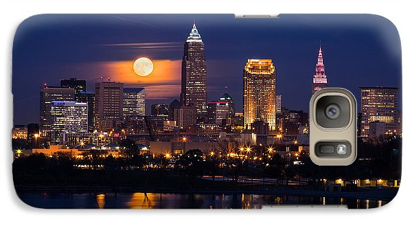 Full Moonrise Over Cleveland Galaxy S7 Case