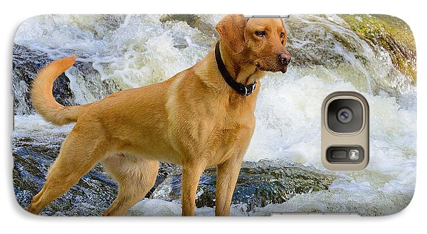 Galaxy Case featuring the photograph Fun At The Creek by Kathy King